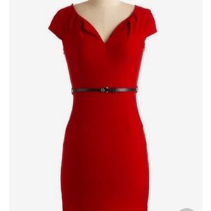 """ModCloth """"And We're Live"""" dress in Cherry 🍒"""